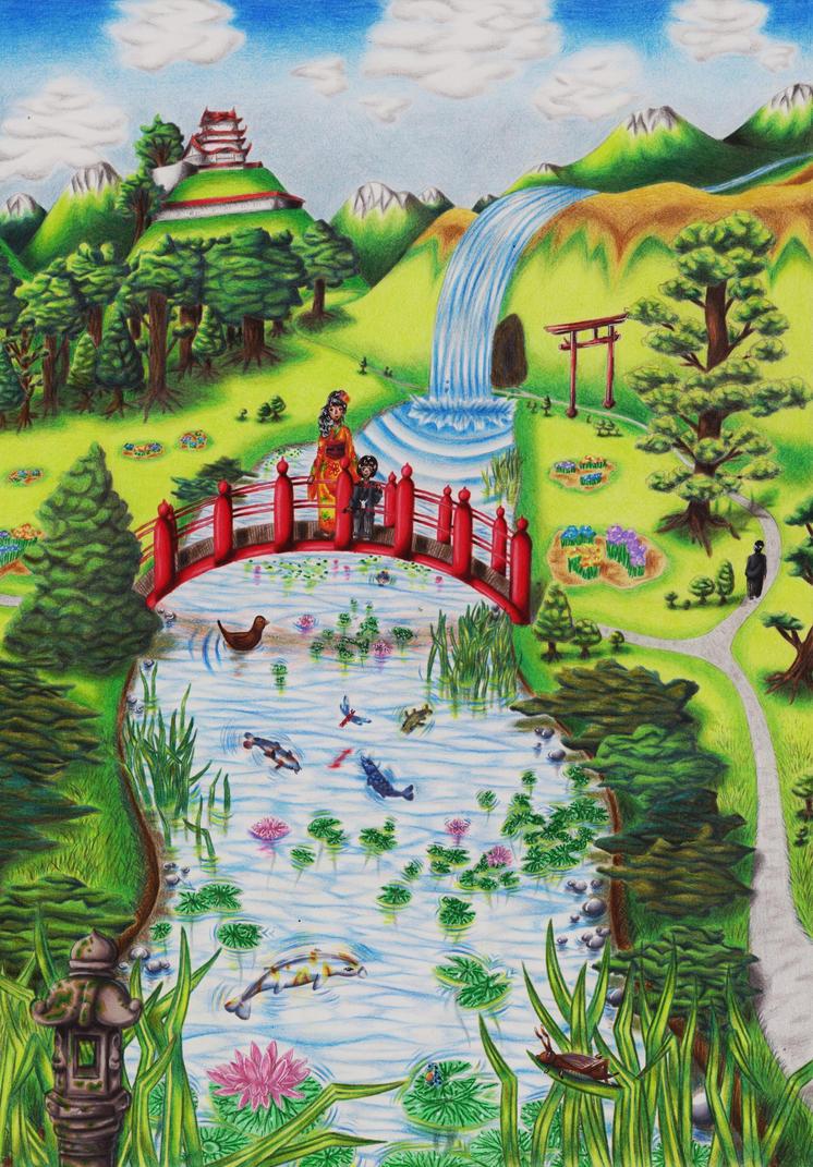 Japanese Garden by Kleiner-Schmetterlin