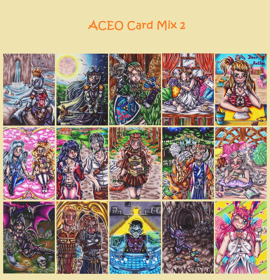 Aceo Card Mix 2 by Kleiner-Schmetterlin