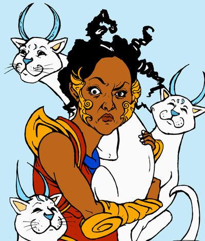 Crazy Cat Lady Saheeli Rai by TheKidIsGreen