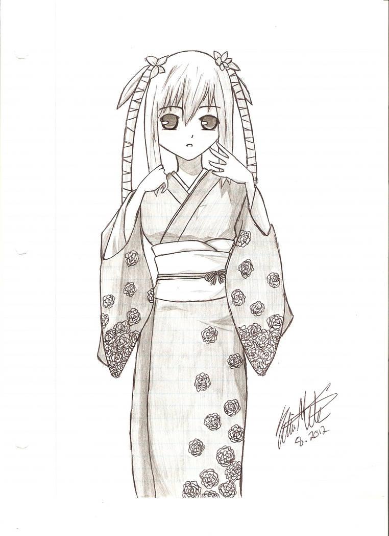 Картинки японских девушек для срисовки