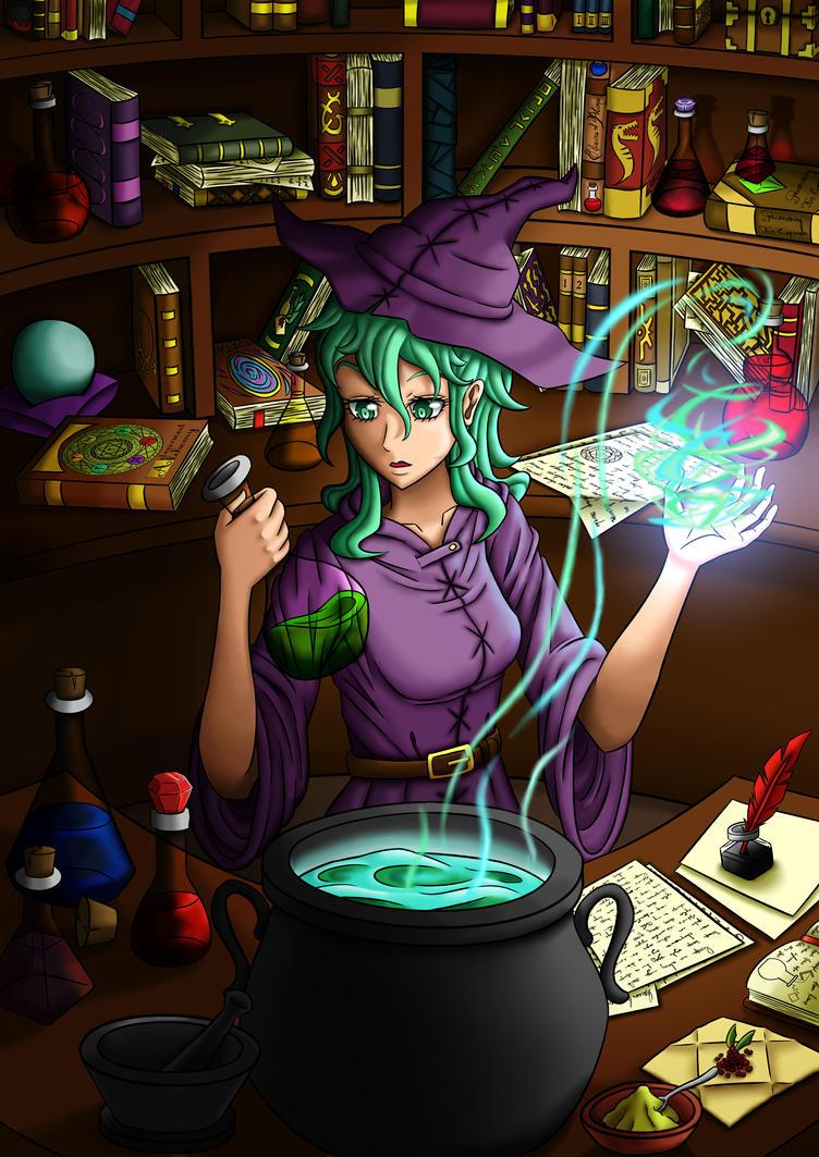 Alchemist Witch by Grazyfish