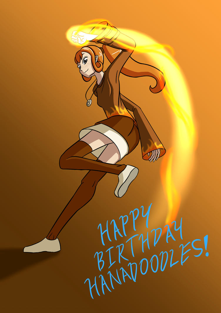 Happy Birthday Hanadoodles!!! by Grazyfish