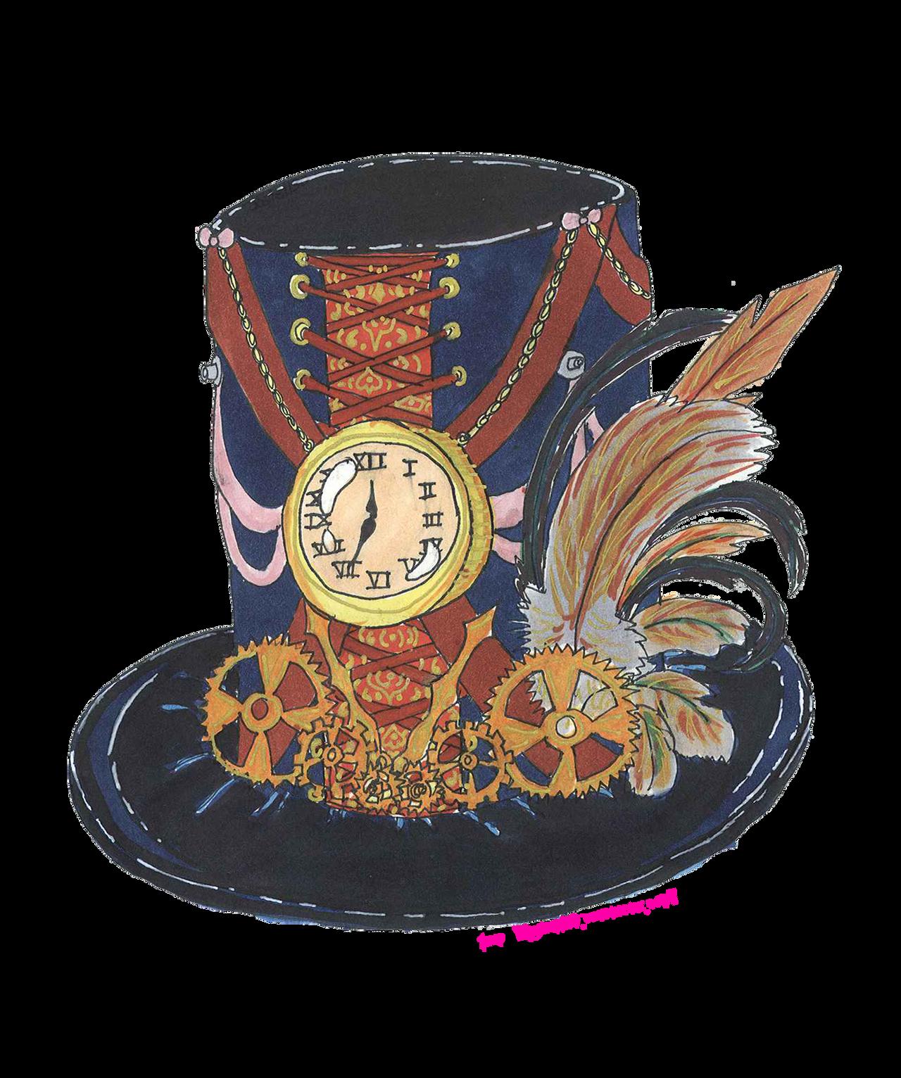 Steampunk Time Keeper Hat by josie1130