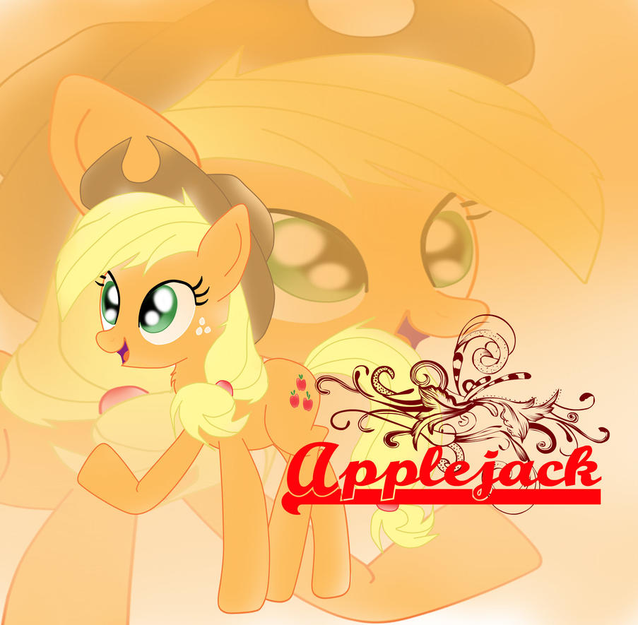 applejack_poster_by_sakurafly101-d6q7zu5