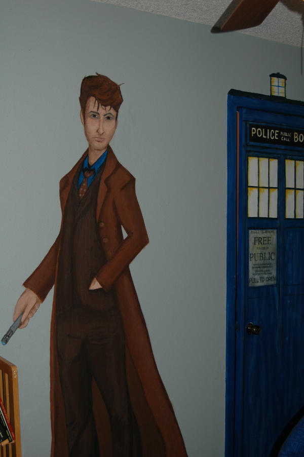 Doctor Who Mural By Exorcisingemily On Deviantart Doctor Who Tardis Fathead  Style Door Or Wall Decal Part 88