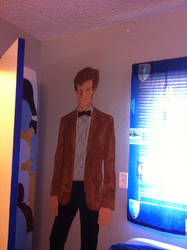 11th Doctor Mural-In-Progress