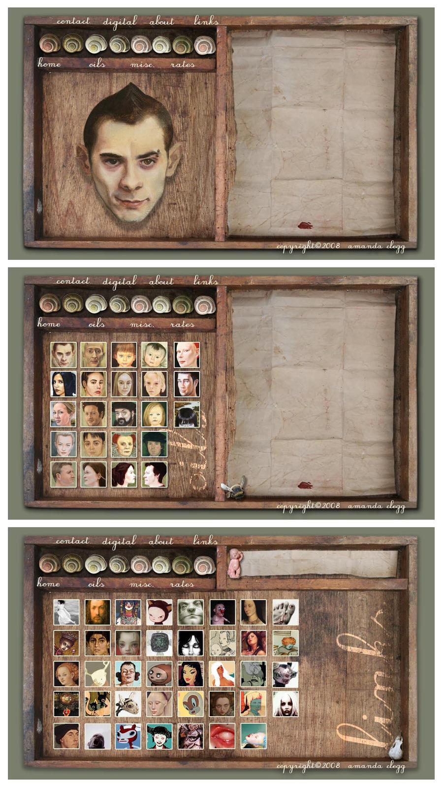 Portraits Website: in progress by enginemonkey