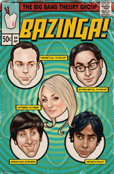 Big Bang Theory Comic Cover by enginemonkey