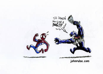 venom VS spiderman by joe1983