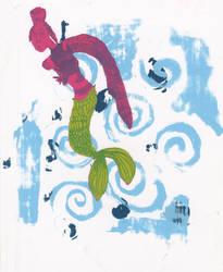 Mermaid silkscreen