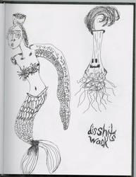 Mermaid sketch idea