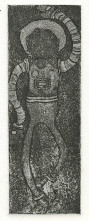 Spaceman aquatint