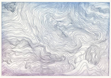 Topographic map - a la poupee