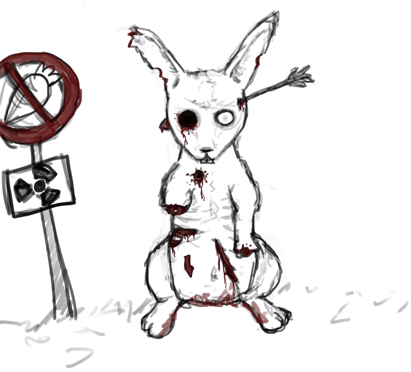 Zombie rabbit  by Kanj...