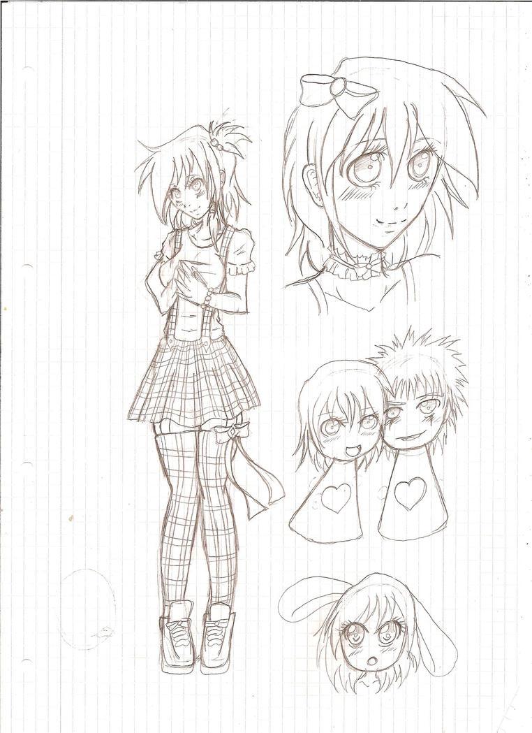 school sketches by SugarYuyu