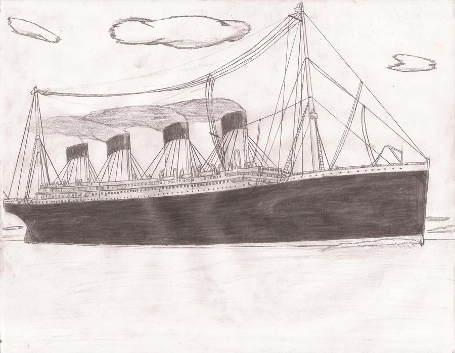 Titanic Pencil Drawings Rms Titanic Drawings