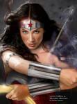 Lynn Collins as Wonder Woman Action Shot!