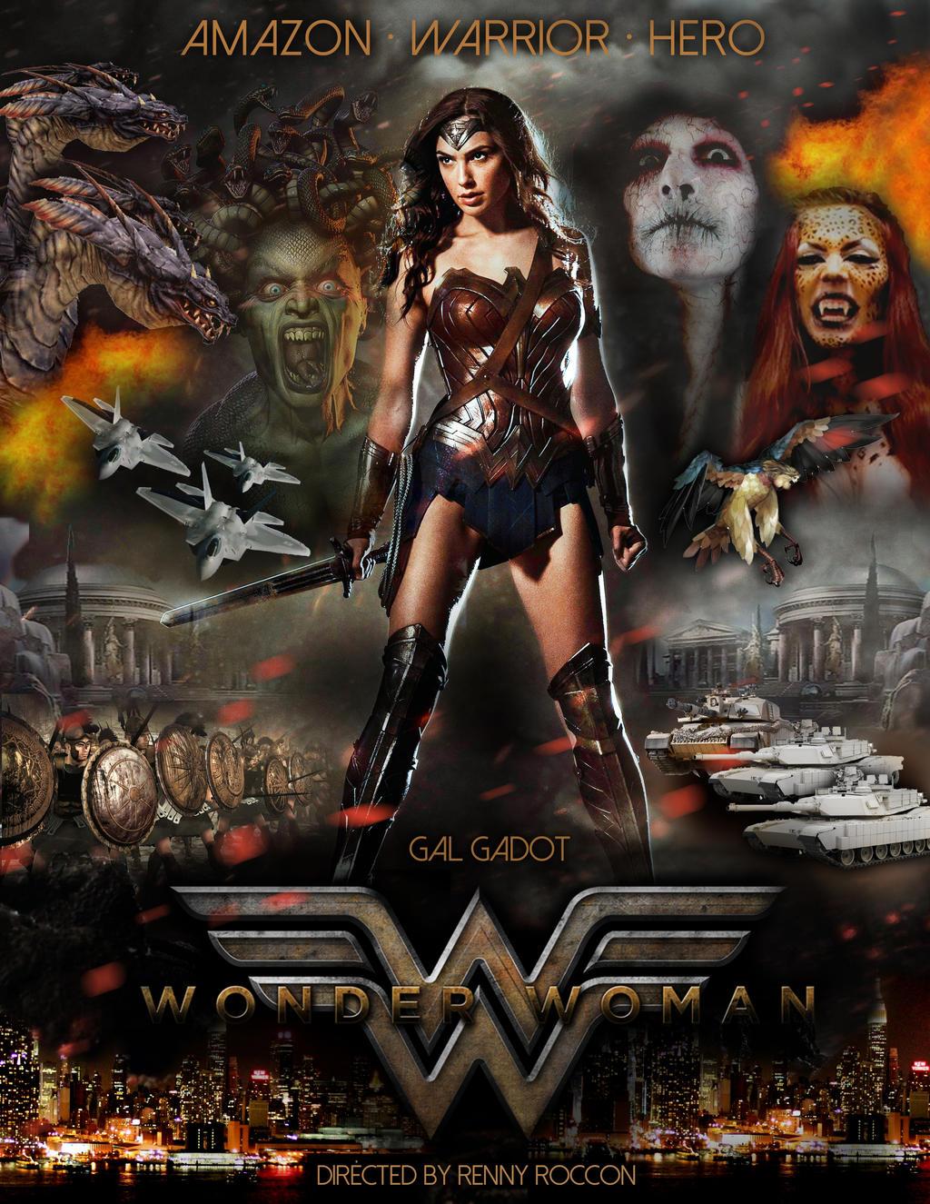 Amazoncom Wonder Woman 2017 Advance Movie Poster