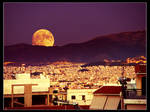 August Foolmoon over Athens