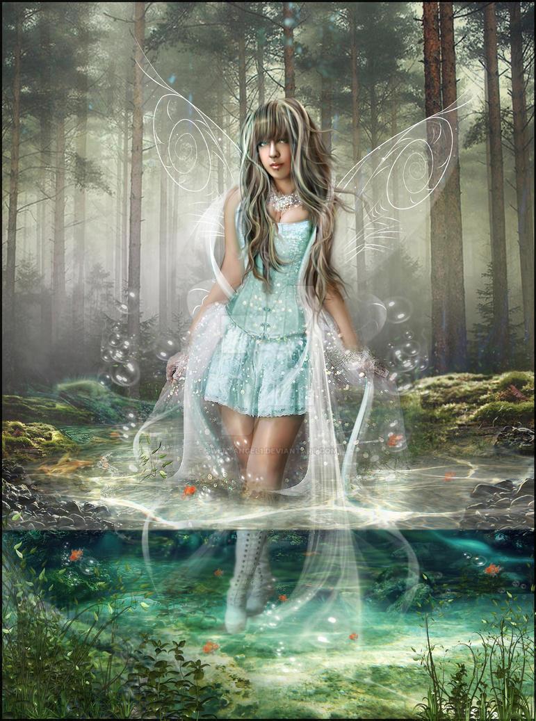 Water fairy by sweetangel1