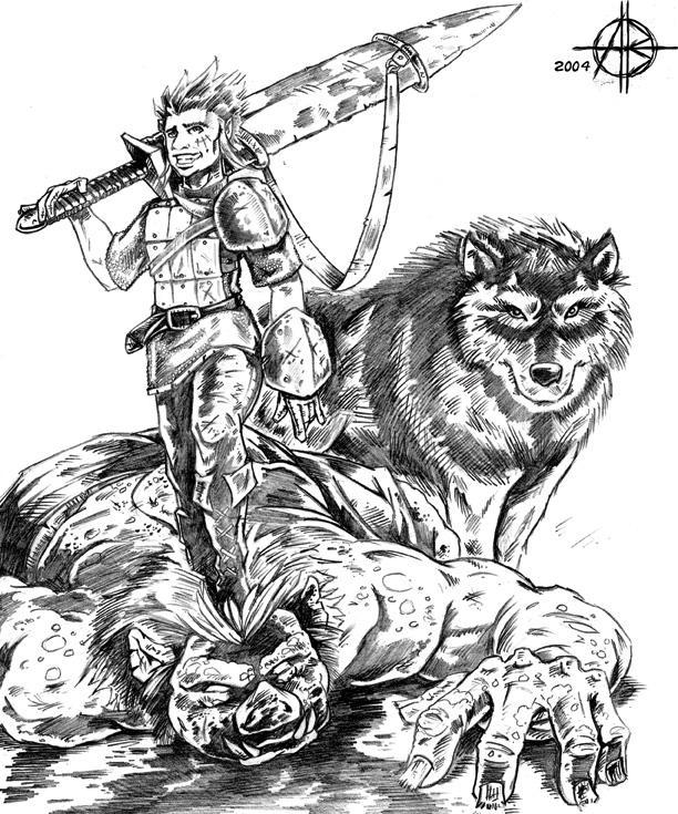 Halfling Warrior by Alistair-D-Borthwick