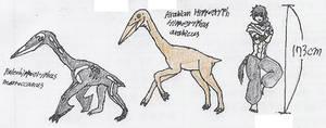 flightless pterosaur concept by Fingertier