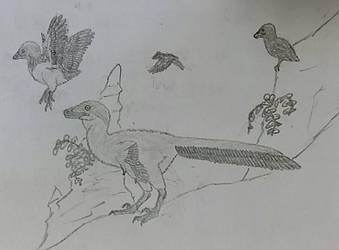 Scrappy flock by Fingertier
