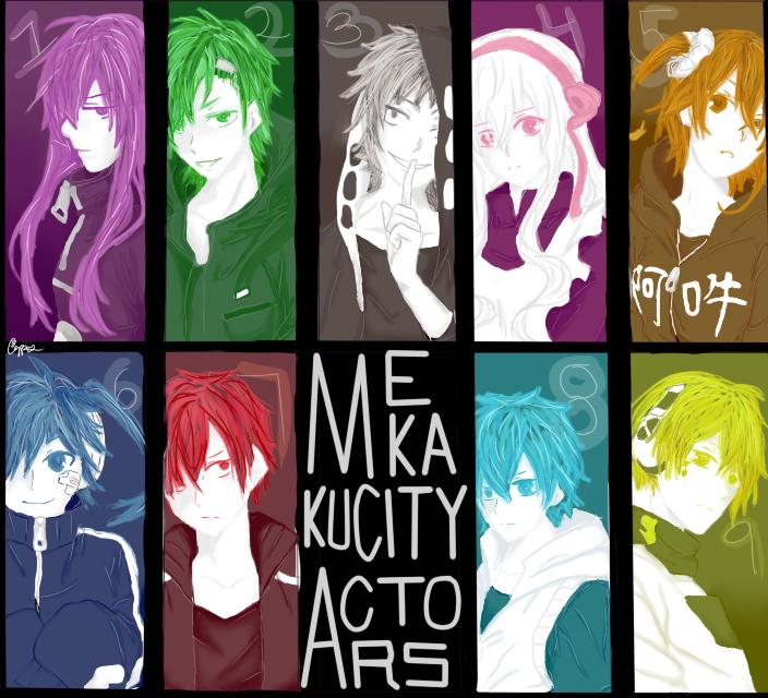Mekaku City Actors by Mizzzen