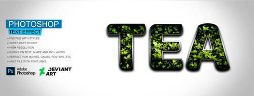 Tea Text Effect PSD File by Gitaputri