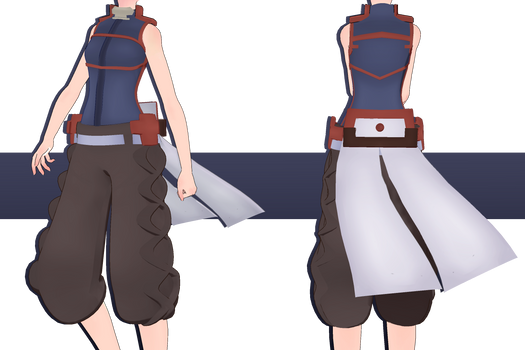 .:: MMD COMMISSION + VIDEO - Akatsuki Outfit  ::. by AneCoco