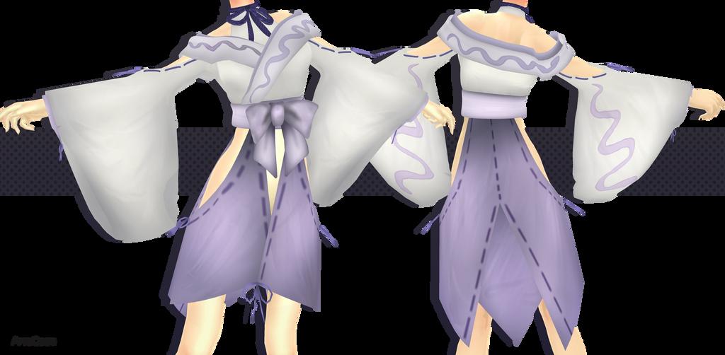MMD COMMISSION - Shirohebi Kimono ::. by AneCoco on DeviantArt