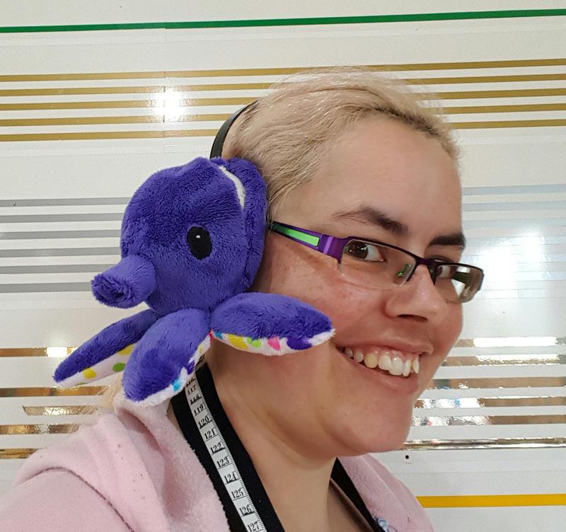 Octopus Earmuffs (Worn) by Seamarie