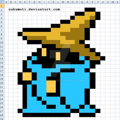 Excel Art - Black Mage by Sakumoti