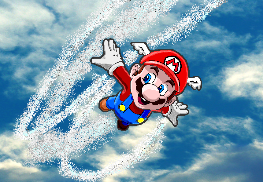 mario flying by MarioandLuigiFanatic