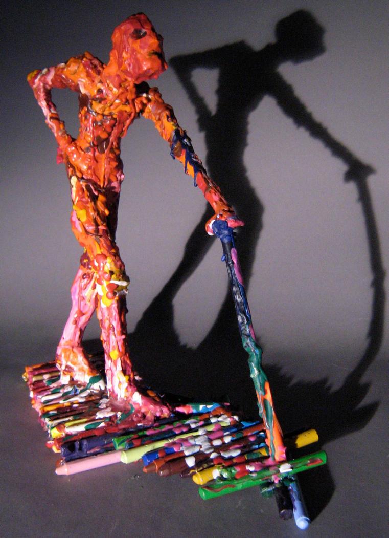 crayon man by InfamouslyDorky