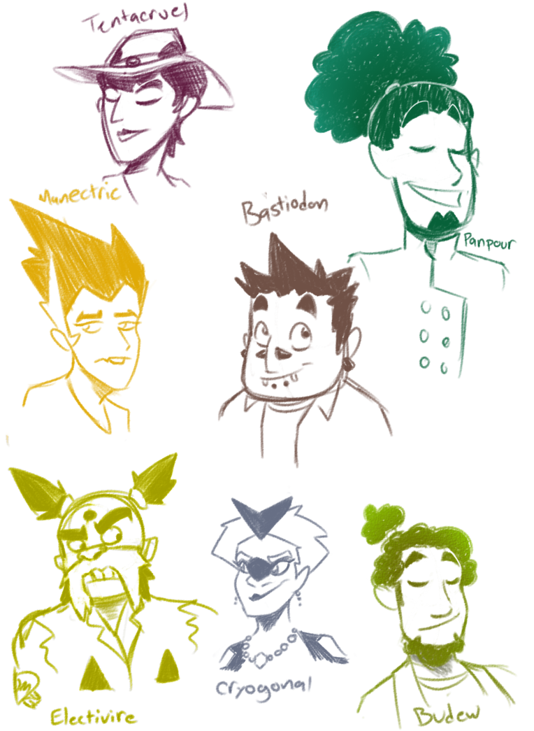 Gijinka doodles by Cobean