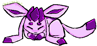 purple glaceon by geenmeisje