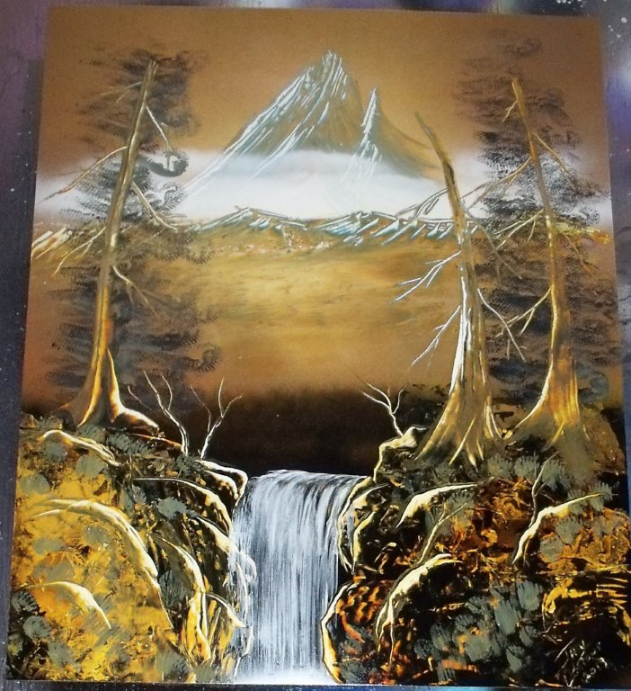 Ice Mountain Spray Painting By Jaylatour On Deviantart