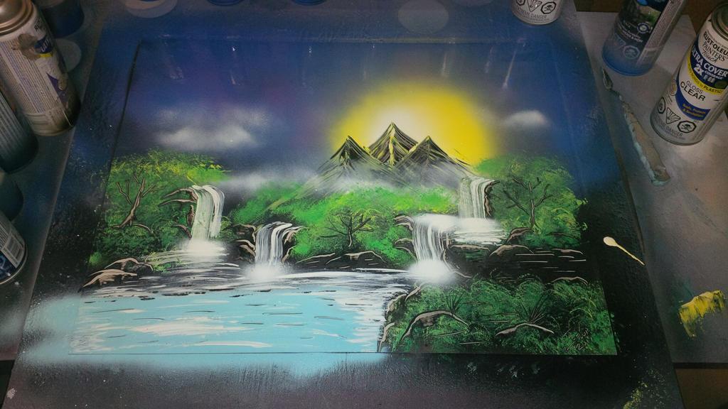 Waterfall Mountain by JayLatour