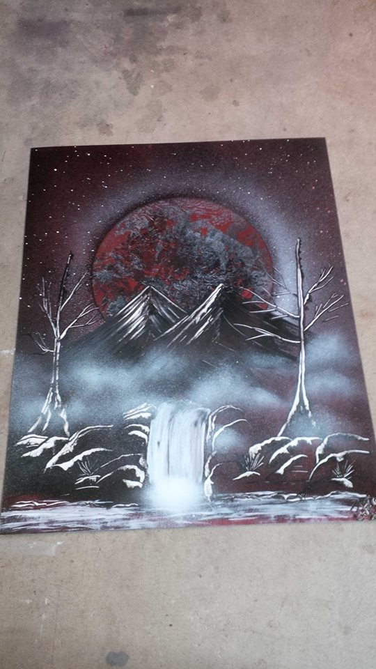 Dark Night Spray Painting by JayLatour