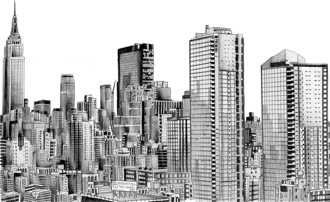 New york skyline by miikedv