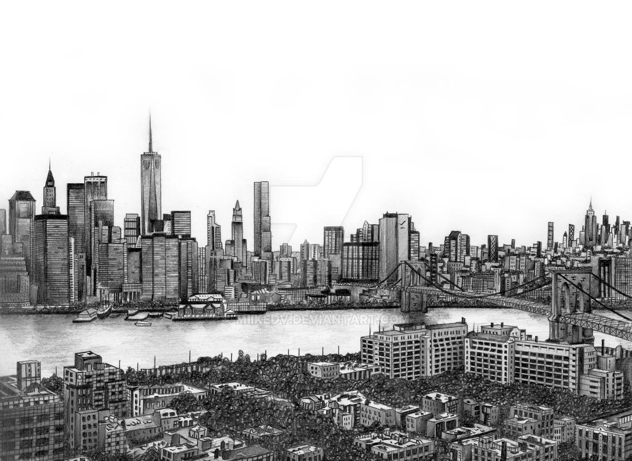 Line Drawing New York City Skyline : New york city skyline drawing pictures to pin on pinterest