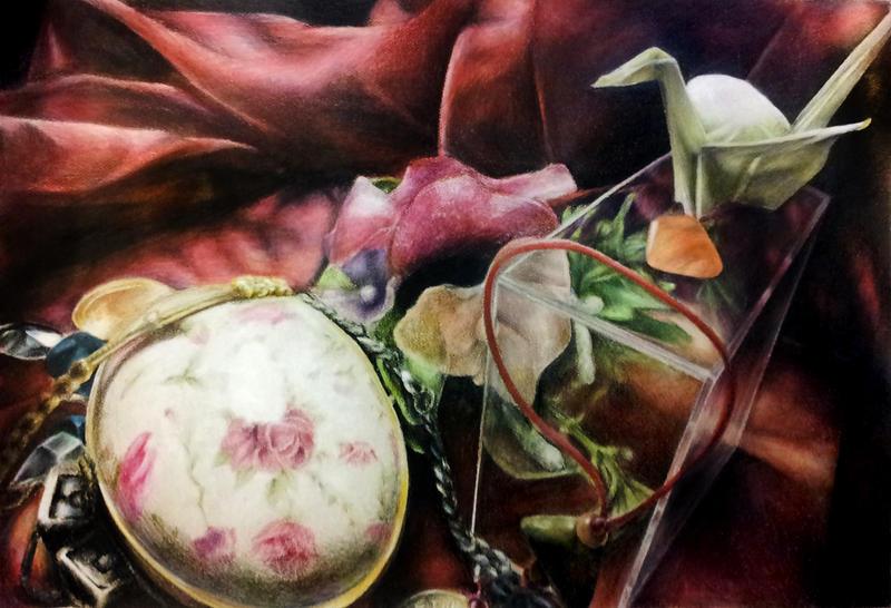 Vanitas - Still Life Drawing by LyricaDreams
