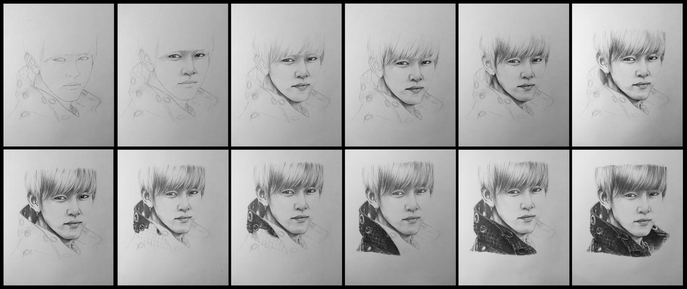 BAP - Daehyun Drawing Process by LyricaDreams