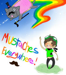 New I.D Moustaches Everywhere by Shino-Love-Bug248