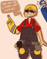 Sappin mah sentry! by Shino-Love-Bug248