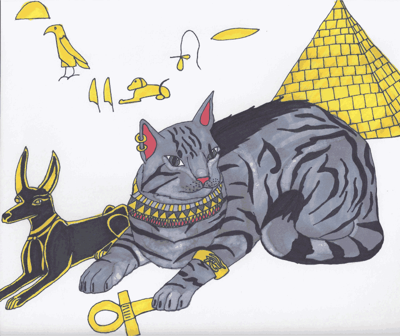 Egyptian Mau by HowlingMoonDesigns