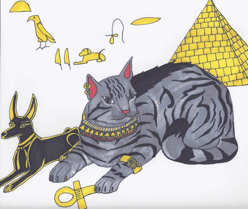 Egyptian Mau by HowlingMoonDesigns