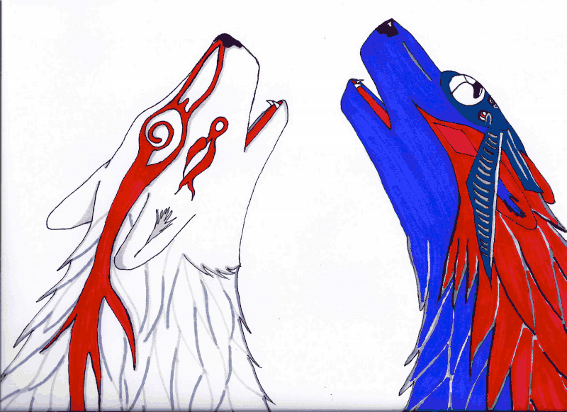 Ammy Oki Howl Together by HowlingMoonDesigns