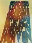 Stairway to Heaven Typographic Art